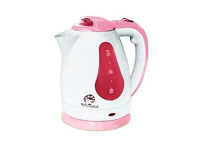 Чайник Василиса Т3-1500 (1500Вт, 1,8л, диск) белый с темно-розовым