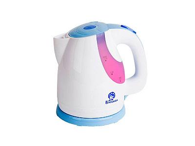 Чайник Василиса Т24-2200(2200Вт 1,7л, диск) белый с сиреневым