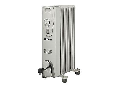 Радиатор масляный Дельта D25-7 1,5кВт 7 секций