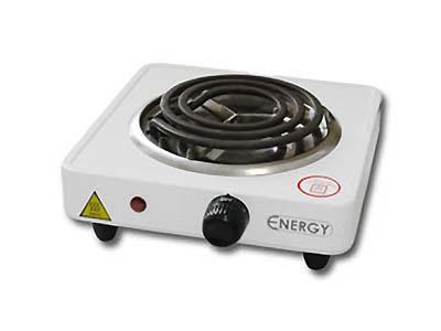 Электроплитка ENERGY EN-902-1,0 кВт/220 (1 конф., тэн, чаша нерж.) белая