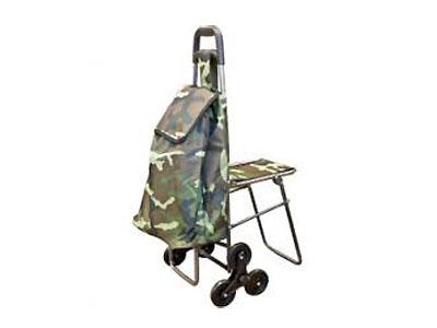 """Тележка с сумкой и сиденьем C-302 50кг """"Хаки"""""""