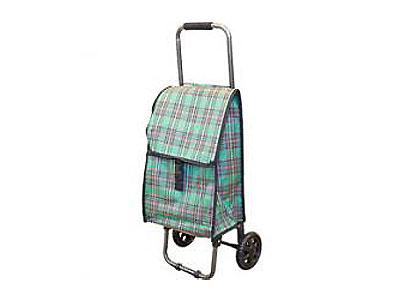 """Тележка с сумкой D203 """"Клетка"""", 30 кг"""
