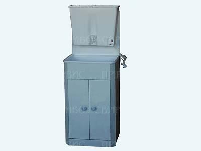 """Умывальник с водонагревателем """"ЭлБЭТ-22"""" пластмассовая мойка, белый, распашные дверцы"""