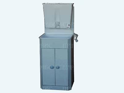 """Умывальник с водонагревателем """"ЭлБЭТ-17"""" пластмассовая мойка, белый, распашные дверцы"""