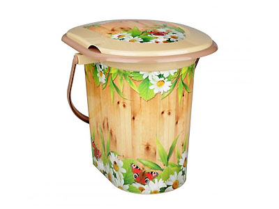 "Ведро-туалет пластиковое 17л ""Летний день"""