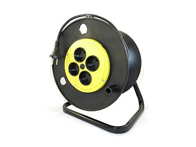 Удлинитель РС-4-10К-50м провод ПВС 2х0.75 на катушке (4х50м)