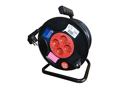 Удлинитель РС-4-16К-30м провод ПВС 2х2.5 на катушке (4х30м)