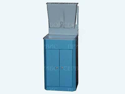 """Умывальник с рукомойником """"ЭлБЭТ-17"""" пластмассовая мойка, бело-голубой, распашные дверцы"""