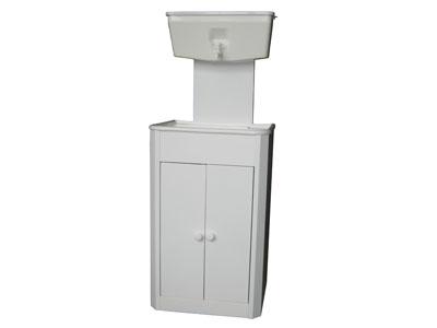 """Умывальник с рукомойником """"ЭлБЭТ-10"""" пластмассовая мойка, белый, распашные дверцы"""